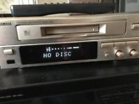 Yamaha mini disk recorder player with remote