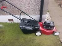 Mountfield push petrol lawnmower with grass box