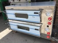 """NEW ITALIAN DOUBLE DECK PIZZA OVEN 8 X 13"""" CATERING COMMERCIAL KITCHEN RESTAURANT CAFE KEBAB BBQ BAR"""