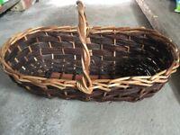 Vintage Large Cane/Wicker Trug - ideal gift for gardener or florist