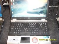 FAST QUAD CORE i5 HP ELITEBOOK LAPTOP 4.0 GB RAM 250GB HARD DISK WIN 7 or WIN 10