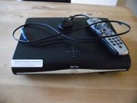 Sky+HD box with mains lead and remote control
