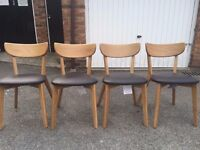 Set of 4 new John Lewis Clio Chairs