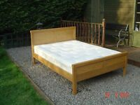 Oak Timbered Double Bed. With a Orthopaedic Mattress. Can Deliver.