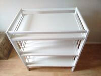 White IKEA Gulliver baby changing table