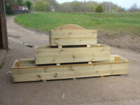 garden planters any size robust pressure treated on legs air spaced heavy plastic base reduce rot