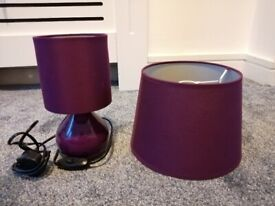 Bedside table lamp & ceiling light shade