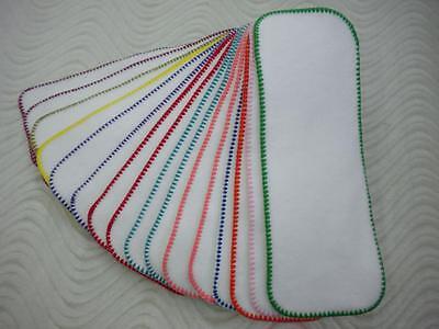 3 layers Cloth Diaper Liner Insert Soaker Doubler Bamboo Cotton Fleece Hemp  ()