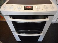 ceramic double ovan fan assisted ZANUSSI brand cooker...like new