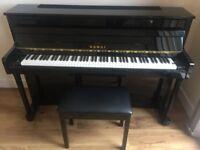 Kawai CS10 PE Upright Piano and Kawai BK P Stool in new condition