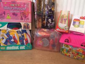New toys and dressings up dresses - individually priced