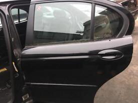 JAGUAR X TYPE PASSENGER DOOR FRONT/REAR BLACK 2005 BREAKING
