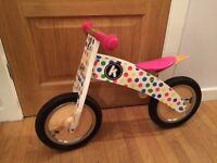 Wooden Balance Bike- Kiddimoto curve