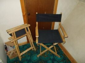 2 director style folding chairs