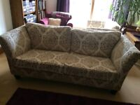 Large 4 Seater Sofa & Snuggle Chair