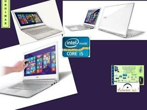 Ultrabook  Acer Aspire S7-392, Touchscreen  13 , Intel i5 / 8 Gb /DDR3 RAM / 128 Gb SSD  / Window 10 /Léger  et luxe