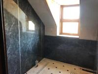 Aquapanel , Wet walls , wall panels , Bathroom , Wet rooms .