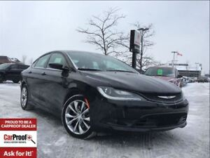 2016 Chrysler 200 S**HEATED SEATS**HEATED STEERING WHEEL**