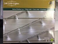 New Boxed 240 LED Lights White Was: £20