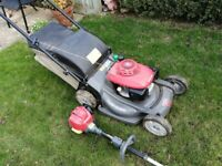 Professional mower and strimmer (4 stroke) Buyer to collect