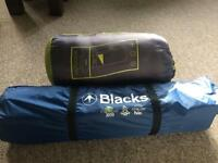 Camping Two man tent and sleeping bag for sale