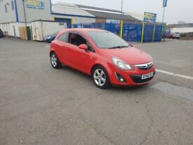 2012 VAUXHALL CORSA 1.2 SXI RED LOW MILEGE 49,667
