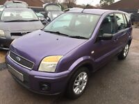 2006/56 FORD FUSION 1.6 TDCI ZETEC 5 DOOR, STUNNING, LOW MILEAGE, ECONOMICAL TO RUN DRIVES WELL