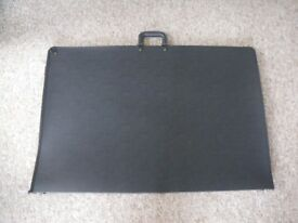A1 Black art portfolio case with detachable shoulder strap - as new