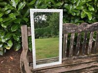 Hand painted shabby chic vintage gold gilt mirror in Tunsgate green