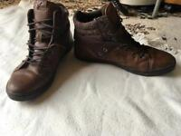 Men's aldo boots brow leather size 9 used good condition £10