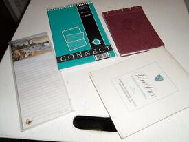 Notebooks (4) & address book
