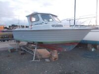 23ft Boat Project - 140hp Outboard - Full Height Cabin - Huge Fishing Area