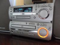 Sharp MD-MX10 Midi Hifi- Minidisc Player Recorder & Speakers