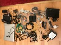 Router, TV box and additional related wires etc Job lot