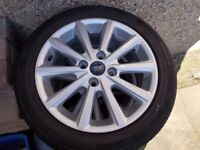 NEW set of Ford Fiesta - 4 x alloy wheels and tyres