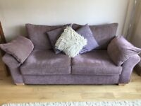 Next 3 Seater and 2 Seater Sofas including Matching Footstool