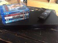 Sony Blu-ray player and 5 blu-rays
