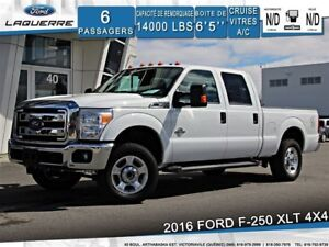 2016 Ford F-250 XLT**4X4*DIESEL*6 PLACES*CAMERA*BLUETOOTH*DÉMAR.