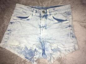 Girls denim summer shorts