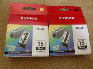 Canon BCI-15 Black Ink Cartridge 2-pack West Island Greater Montréal image 2