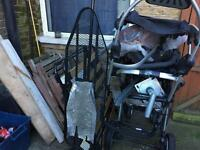 Wood and metal for scrap