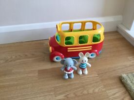 Mothercare musical bus with characters