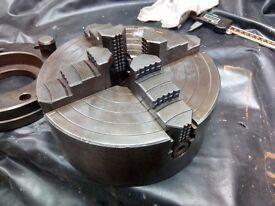 "8"" Pratt Burnerd 4-jaw independent chuck & D1-6 camlock backplate"