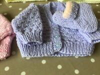 Hand Knitted Baby Cardies