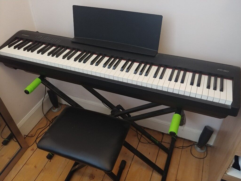 roland fp 30 digital piano including stand and stool in merchiston edinburgh gumtree. Black Bedroom Furniture Sets. Home Design Ideas
