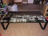 Glass New York coffee table