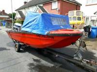 Island 14ft fishing boat 25hp outboard trailer swaps