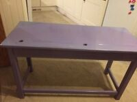 Double purple school desk lovely heavy need space no time wasters