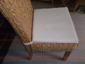 4 rattan dining chairs for sale