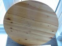 ***Round Pine Kitchen Table - Surface Slightly Marked, but Perfect For Re-Polishing/Upcycling***